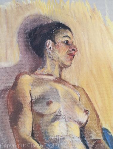 Life model Tamara: head and shoulders