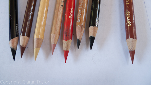 Very sharp pencils
